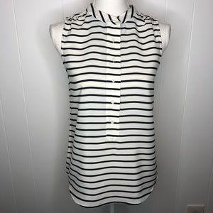 J. Crew striped sleeveless top size 0.
